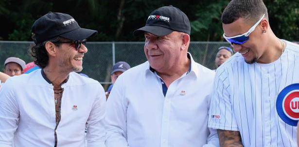 Marc Anthony Javy Báez reinauguran campo de béisbol en Loíza